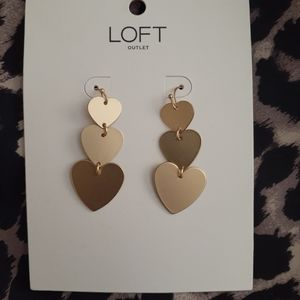 Loft Tiered Heart Drop Earrings